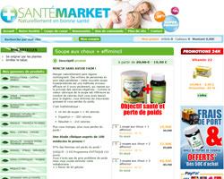 Une fiche produit de Santé Market