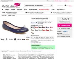 Une fiche produit de Sarenza