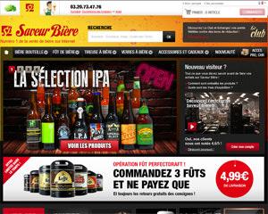 Page d'accueil de Saveur Bière