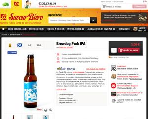 Une fiche produit de Saveur Bière