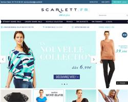 Page d'accueil de Scarlett