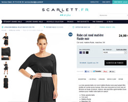 Une fiche produit de Scarlett