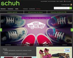 Page d'accueil de Schuh