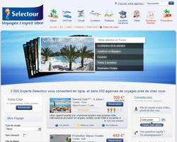 Page d'accueil de Selectour