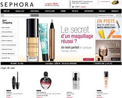 Page d'accueil de Sephora