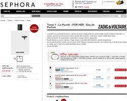 Une fiche produit de Sephora