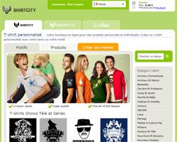 Page d'accueil de Shirtcity