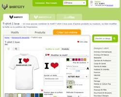 Une fiche produit de Shirtcity