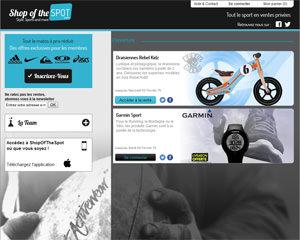 Page d'accueil de Shopofthespot