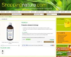 Une fiche produit de Shopping nature