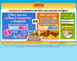 Page d'accueil de Simply Market