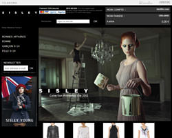 Page d'accueil de Sisley