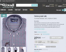 Une fiche produit de Sizall