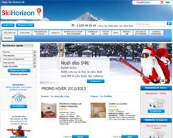 Page d'accueil de Ski Horizon