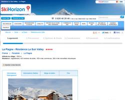 Une fiche produit de Ski Horizon
