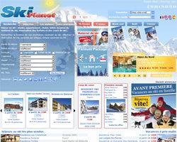 Page d'accueil de Ski Planet