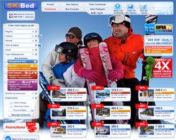 Page d'accueil de Skibed