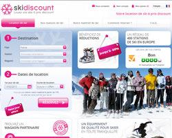 Page d'accueil de SkiDiscount