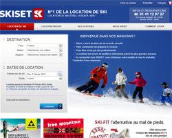 Page d'accueil de Skiset