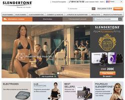 Page d'accueil de Slendertone
