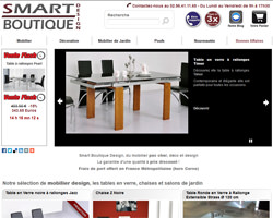 Page d'accueil de Smart boutique design