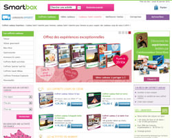 Page d'accueil de Smartbox