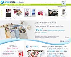 Page d'accueil de Smartphoto