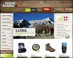 Page d'accueil de Snowleader