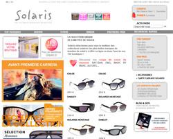Page d'accueil de Solaris