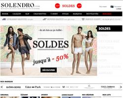 Page d'accueil de Solendro