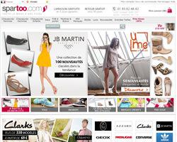 Page d'accueil de Spartoo