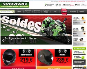 Page d'accueil de Speedway