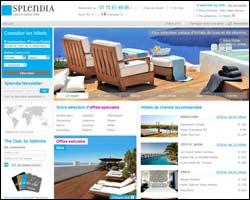 Page d'accueil de Splendia