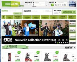 Page d'accueil de Sport Avenue