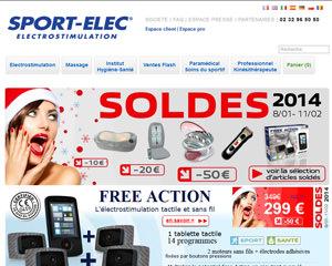 Page d'accueil de Sport Elec