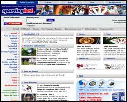 Page d'accueil de Sportingbet
