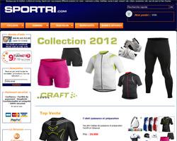 Page d'accueil de Sportri