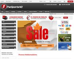 Page d'accueil de Sports HQ