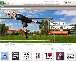 Page d'accueil de Spreadshirt