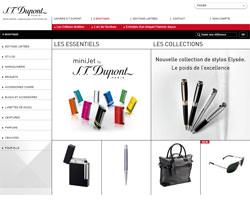 Page d'accueil de S.T. Dupont