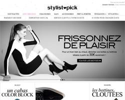 Page d'accueil de Stylistpick