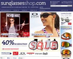 Page d'accueil de Sunglasses Shop