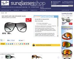 Une fiche produit de Sunglasses Shop