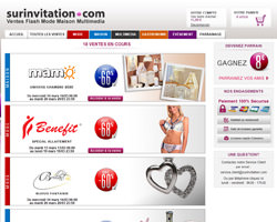 Page d'accueil de Surinvitation.com