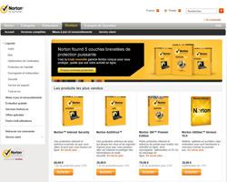 Page d'accueil de Symantec France
