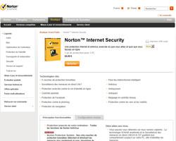 Une fiche produit de Symantec France
