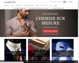 Page d'accueil de Tailor Store