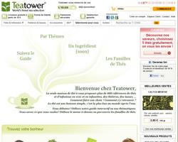 Page d'accueil de Teatower