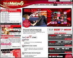 Page d'accueil de Télé Mélody