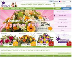 Page d'accueil de TéléFleurs